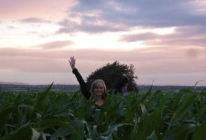 allie in corn field